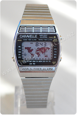 Caravelle World Time Melody Alarm