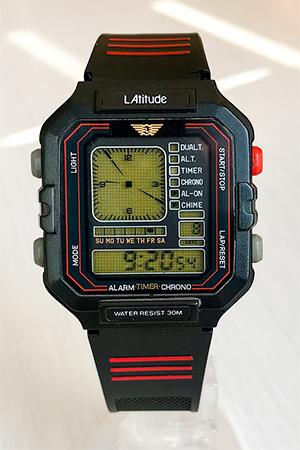 Latitude analog/digital 'tribute' watch